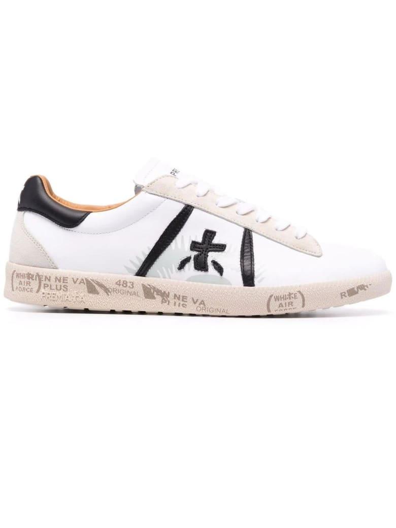 Premiata White Leather Andy Sneakers - Bianco+nero