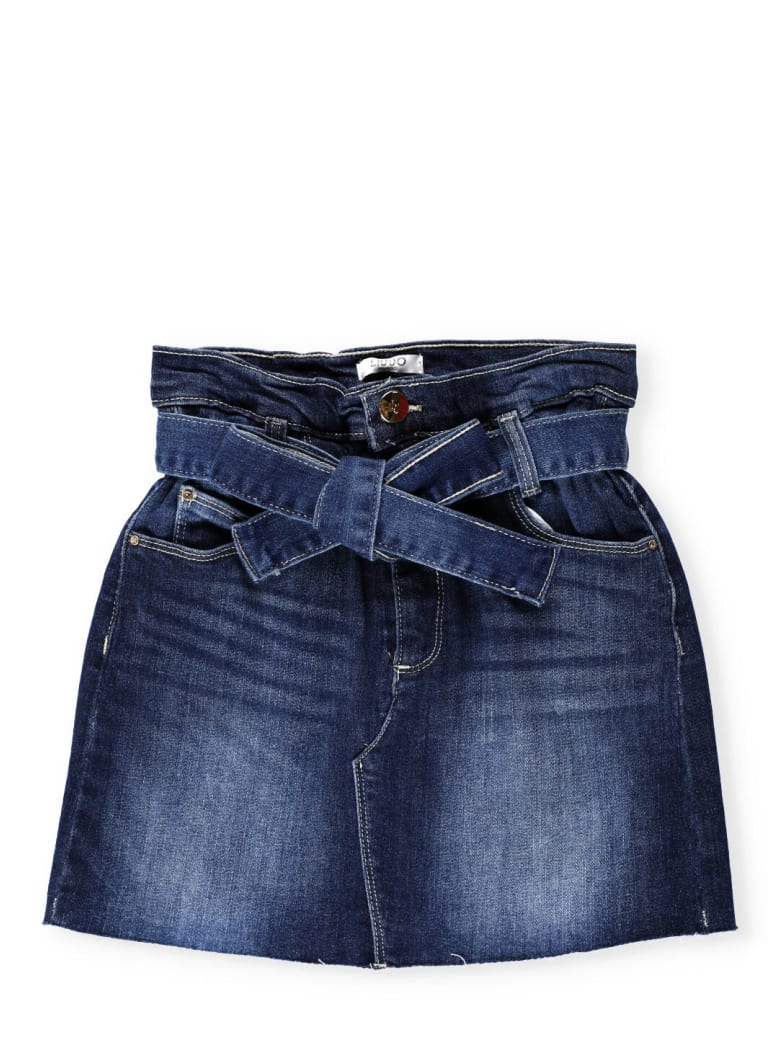 Liu-Jo Cotton Jeans Short - DEN. BLU