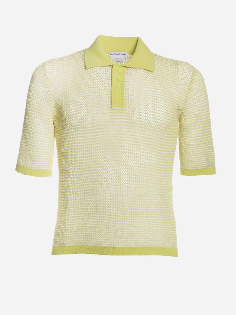 Bottega Veneta Loose Weave Polo Made Of Cotton