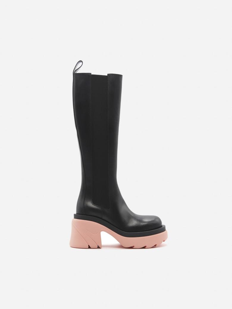 Bottega Veneta Flash Boots Made Of Leather - Black