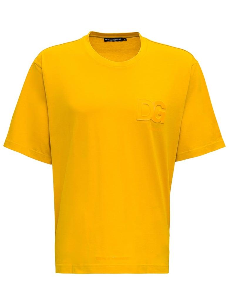 Dolce & Gabbana Embossed Logo T-shiry - Yellow