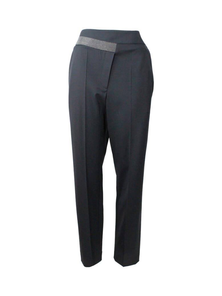 Brunello Cucinelli Trousers With Monili - Black