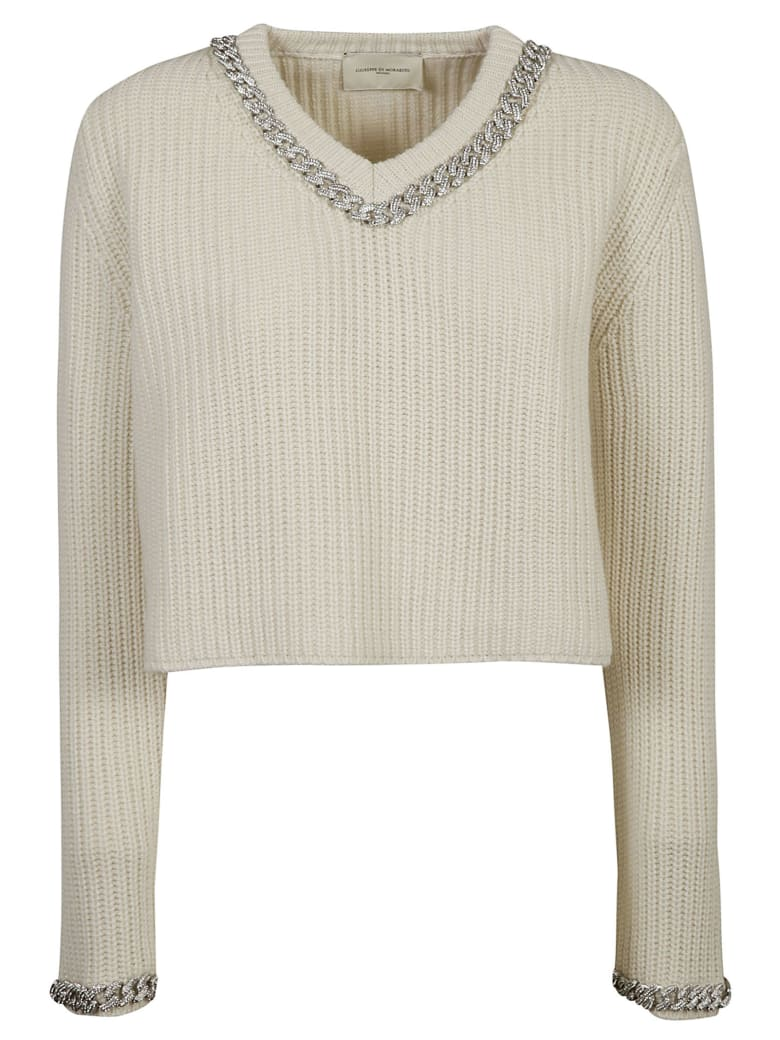 Giuseppe di Morabito Ribbed Knit Cropped Sweater - White