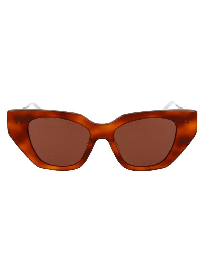 Gucci Gg0641s Sunglasses - 003 HAVANA SILVER BROWN