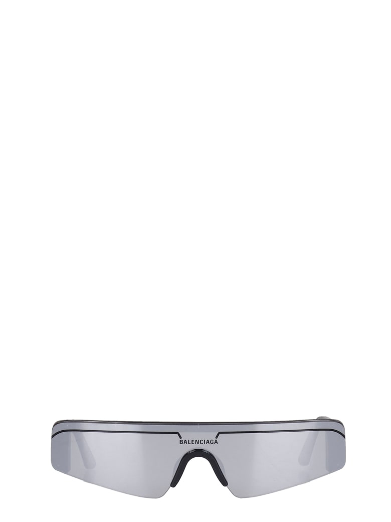Balenciaga Ski React  Sunglasses In Silver Acetate - silver