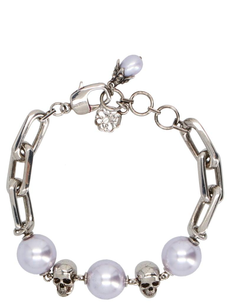 Alexander McQueen 'chain Pearl' Bracelet - Multicolor