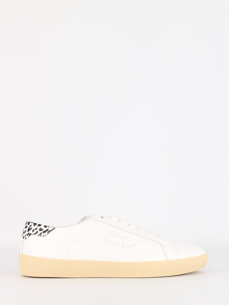 Saint Laurent Court White Low Sneakers - White