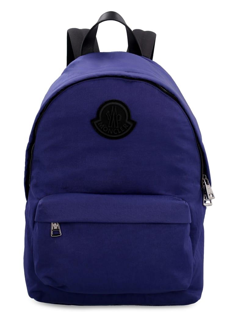 Moncler Pierrick Leather Details Nylon Backpack - BLU