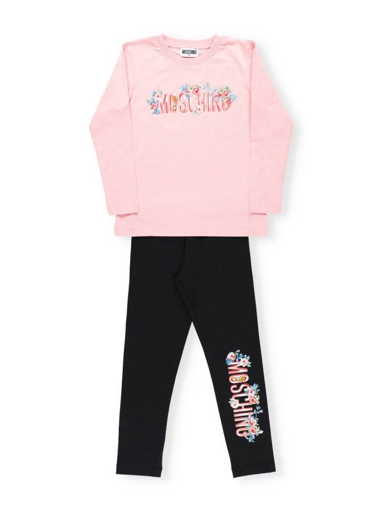 Moschino T-shirt And Leggings Set - SUGAR ROSE/BLACK