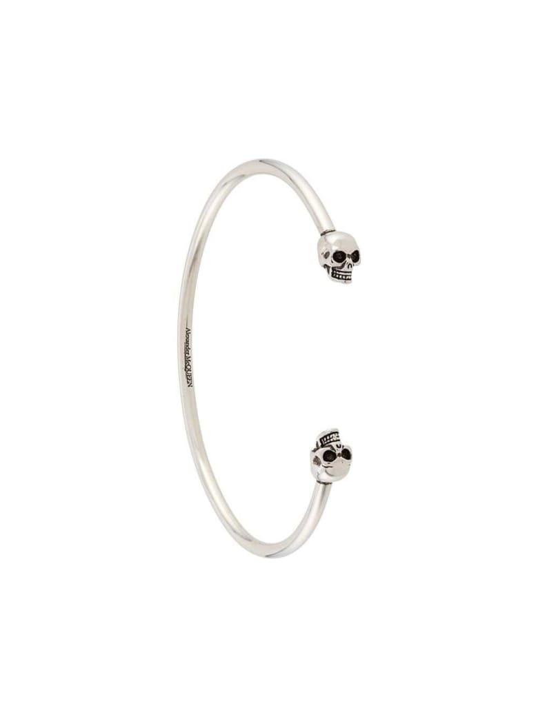 Alexander McQueen Silver-tone Metal Skull-embellished Cuff Bracelet - Metallic