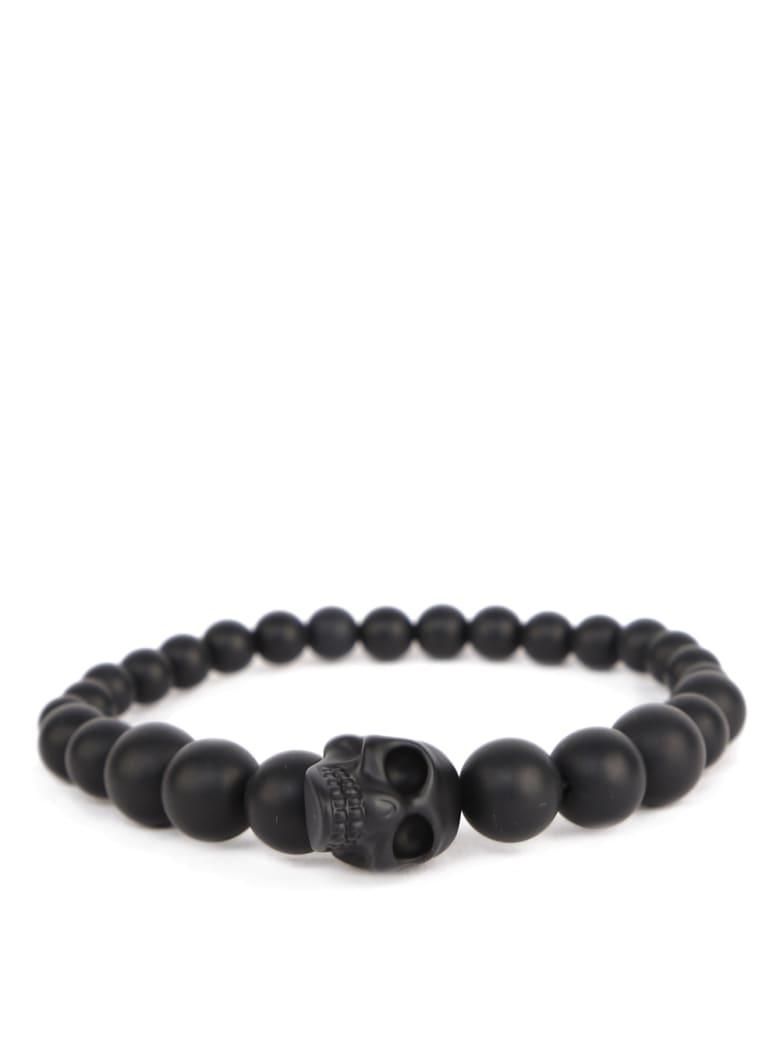 Alexander McQueen Black Resin Skull Bracelet - Black