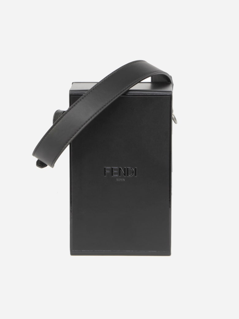 Fendi Vertical Box Bag In Smooth Leather - Black