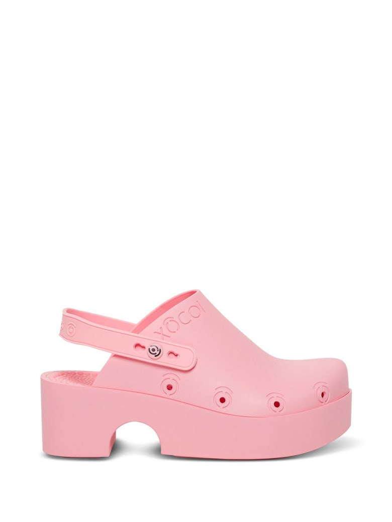 Xocoi Pink Recycled Rubber Clogs With Logo - Pink