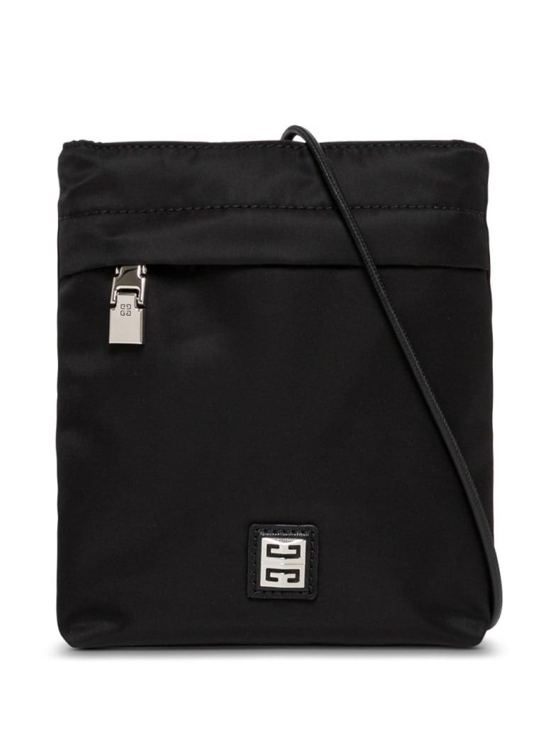 Givenchy Black Nylon Crossbody Bag With Logo - Black