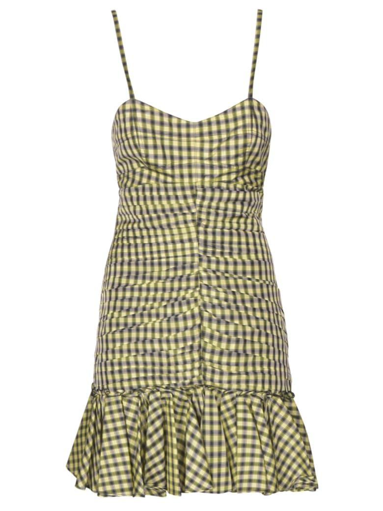 Philosophy di Lorenzo Serafini Gathered Check Slim Dress - Multicolore