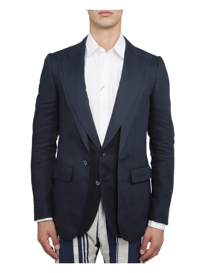 Dolce & Gabbana Blue Jacket - Petroleum