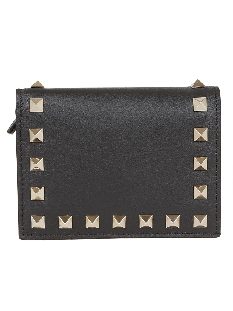 Valentino Garavani Flap French Wallet - No Nero