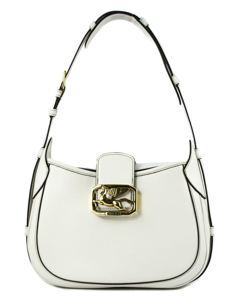 Etro Pegaso Bag In Leather - Bianco
