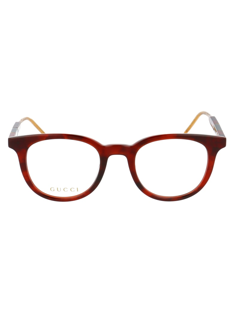 Gucci Gg0845o Glasses - 005 HAVANA HAVANA TRANSPARENT