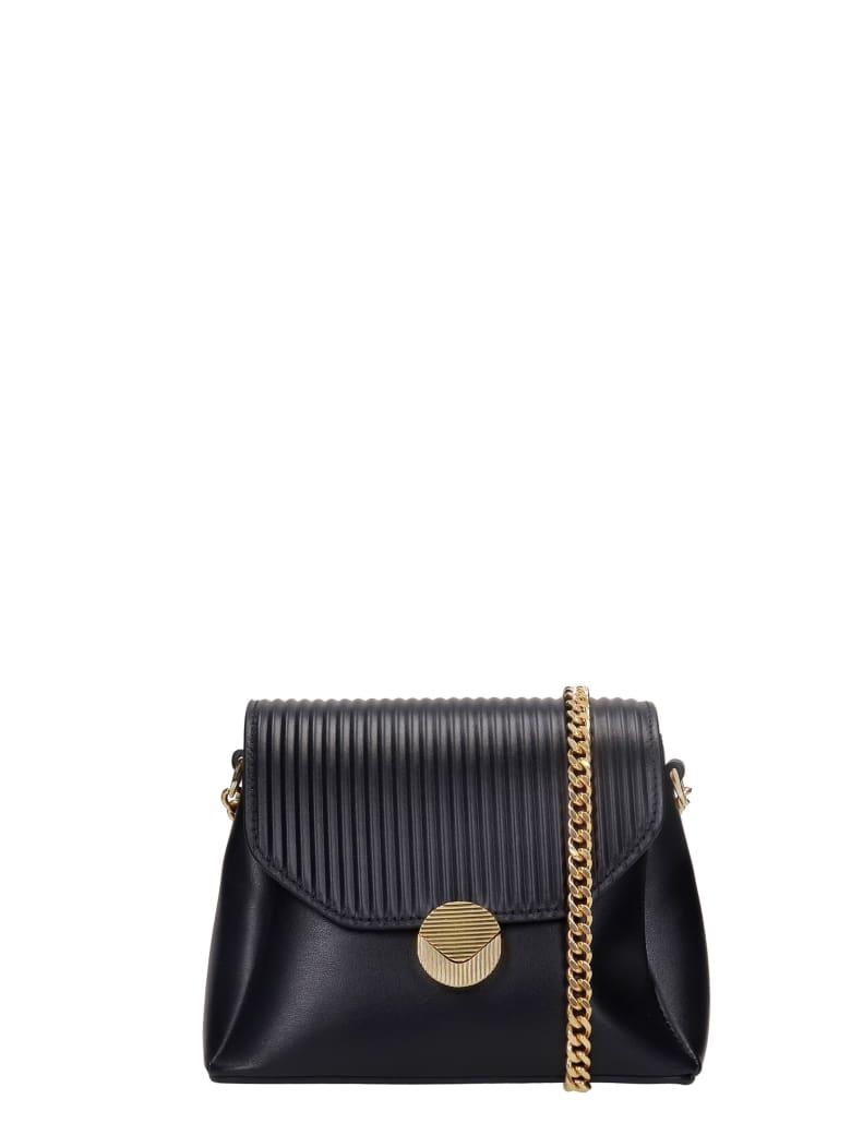 Visone Tati Shoulder Bag In Black Leather - black