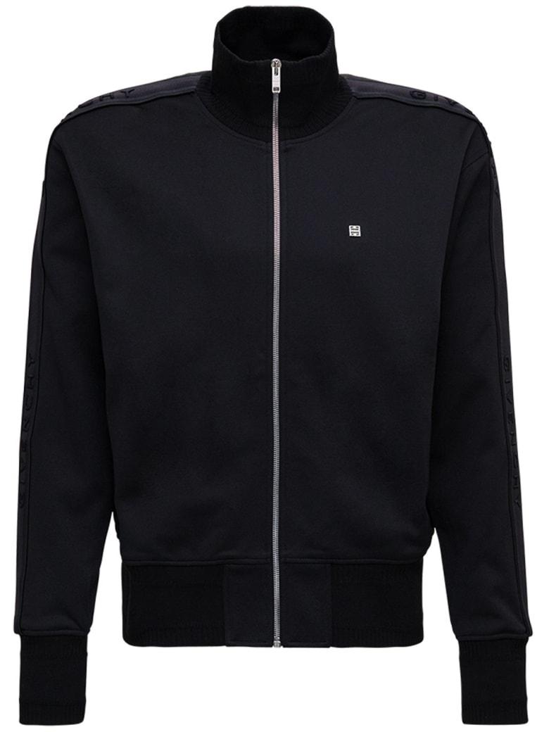 Givenchy Black Cotton Sweatshirt With Logo - Black