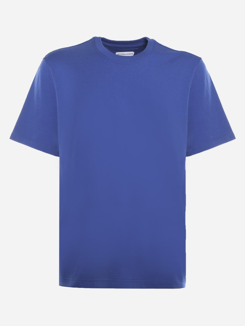 Bottega Veneta Cotton Jersey T-shirt With Tone-on-tone Logo - Cobalt