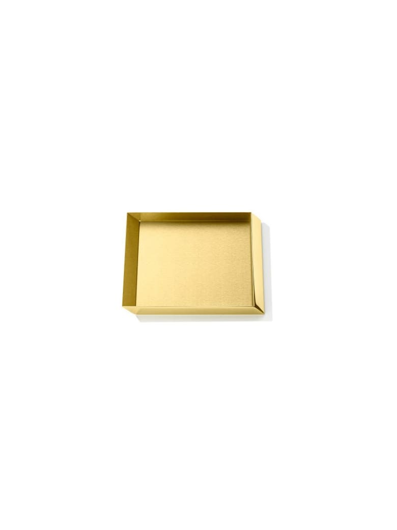 Ghidini 1961 Axonometry - Squared Small Tray Polished Brass - Polished brass