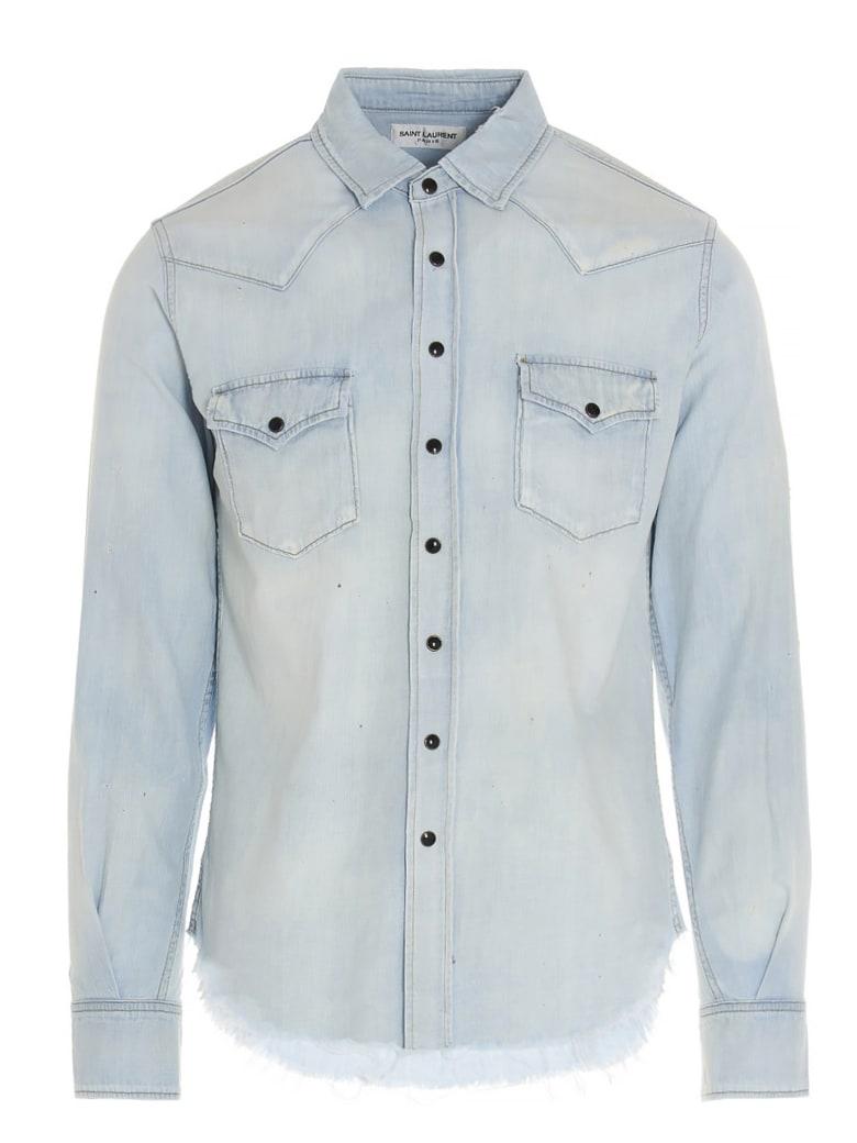 Saint Laurent 'western' Shirt - Azzurro