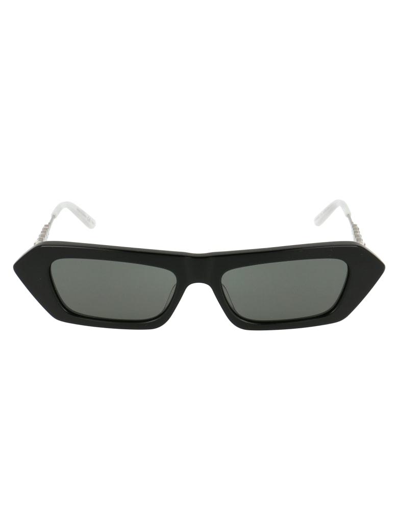 Gucci Gg0642s Sunglasses - 001 BLACK SILVER GREY