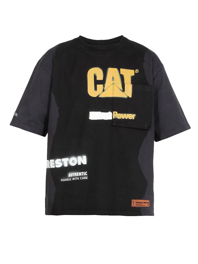 HERON PRESTON Cat Pkt Power T-shirt - BLACK YELL