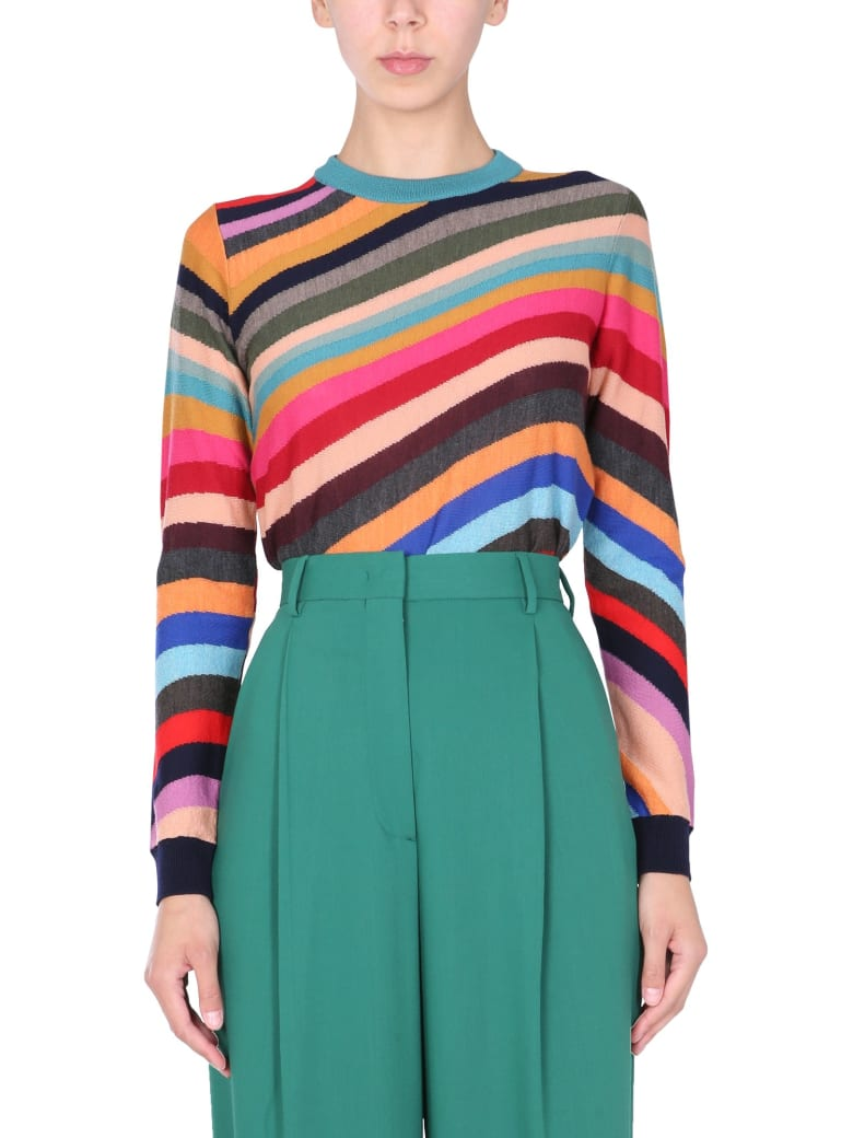 PS by Paul Smith Sweater With Multicolor Stripes - MULTICOLOR