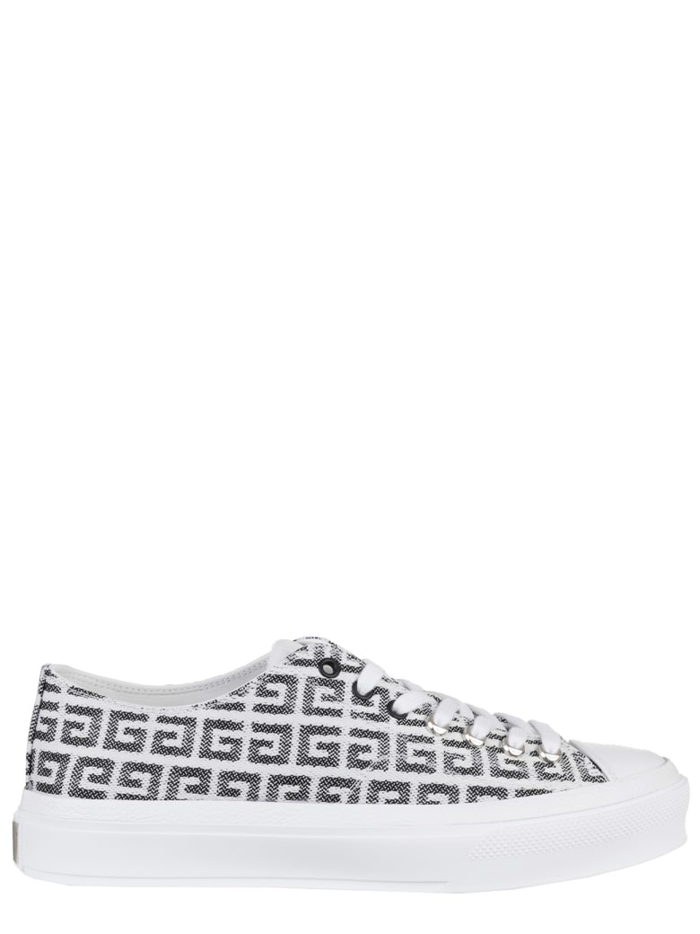 Givenchy Black And White 4g City Low Sneakers - Nero/bianco