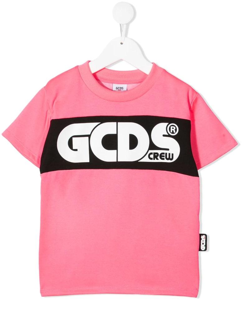 GCDS Mini Colour-block Logo T-shirt - Fucsia