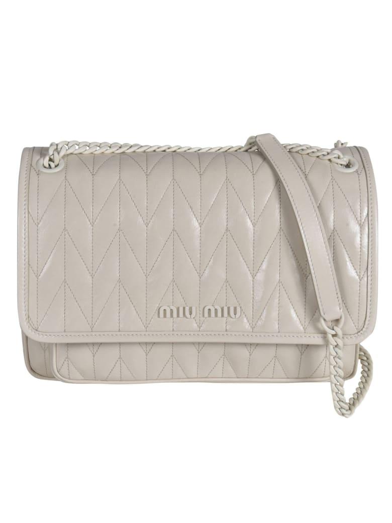 Miu Miu Patterned Flap Shoulder Bag - Talco