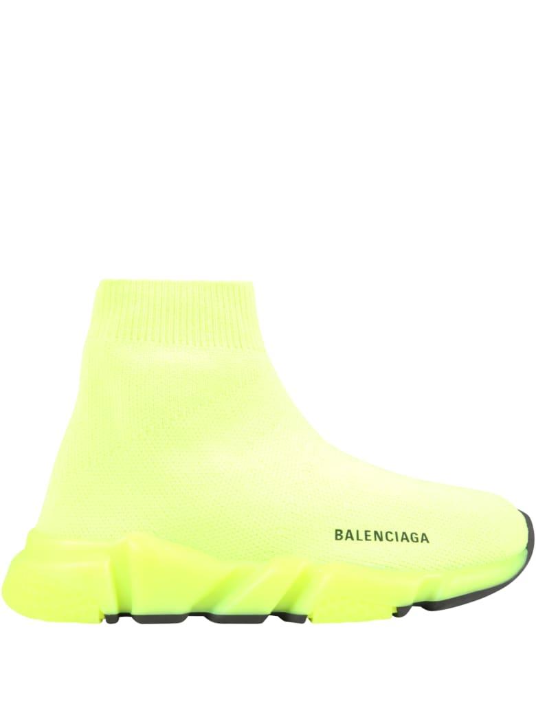 Balenciaga Neon Yellow Sneakers For Kids With Logo - Yellow