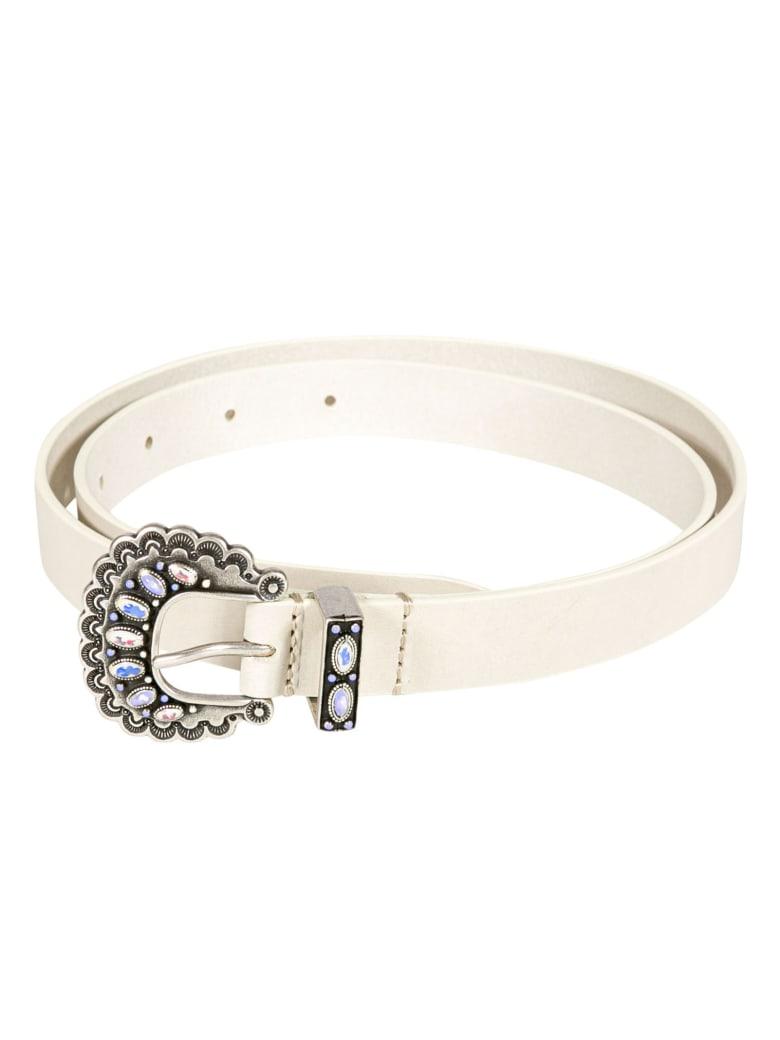 Isabel Marant Embellished Buckle Belt - White