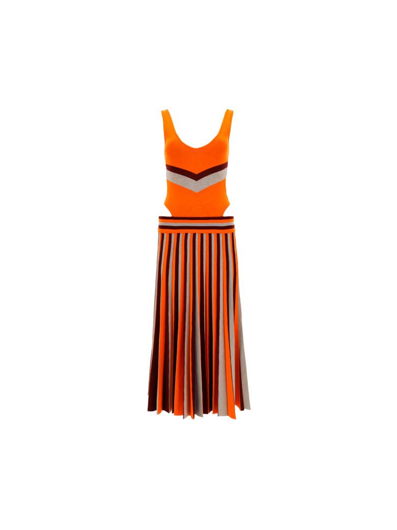 Gabriela Hearst Stand Dress - Windsorwine/orange/oatmeal