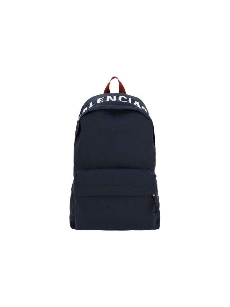 Balenciaga Backpack - Navy blue/red