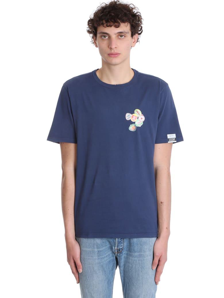 Golden Goose Adamo T-shirt In Blue Cotton - BLUE