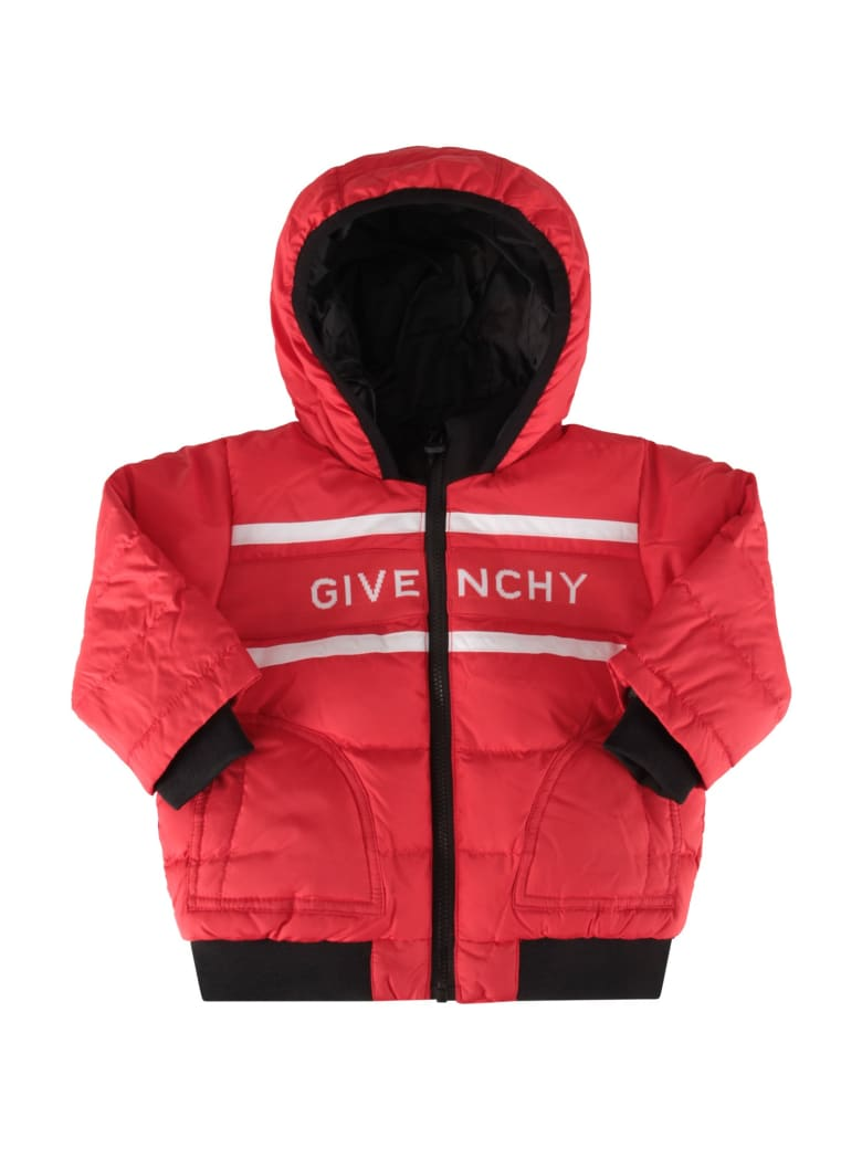 Givenchy Red Jacket For Baby Boy With Logo - Rosso