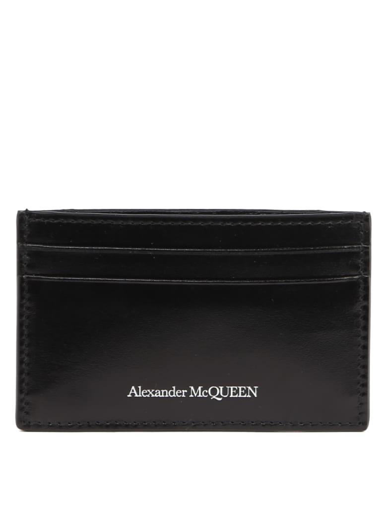 Alexander McQueen Black Leather Logo Cardholder - Black