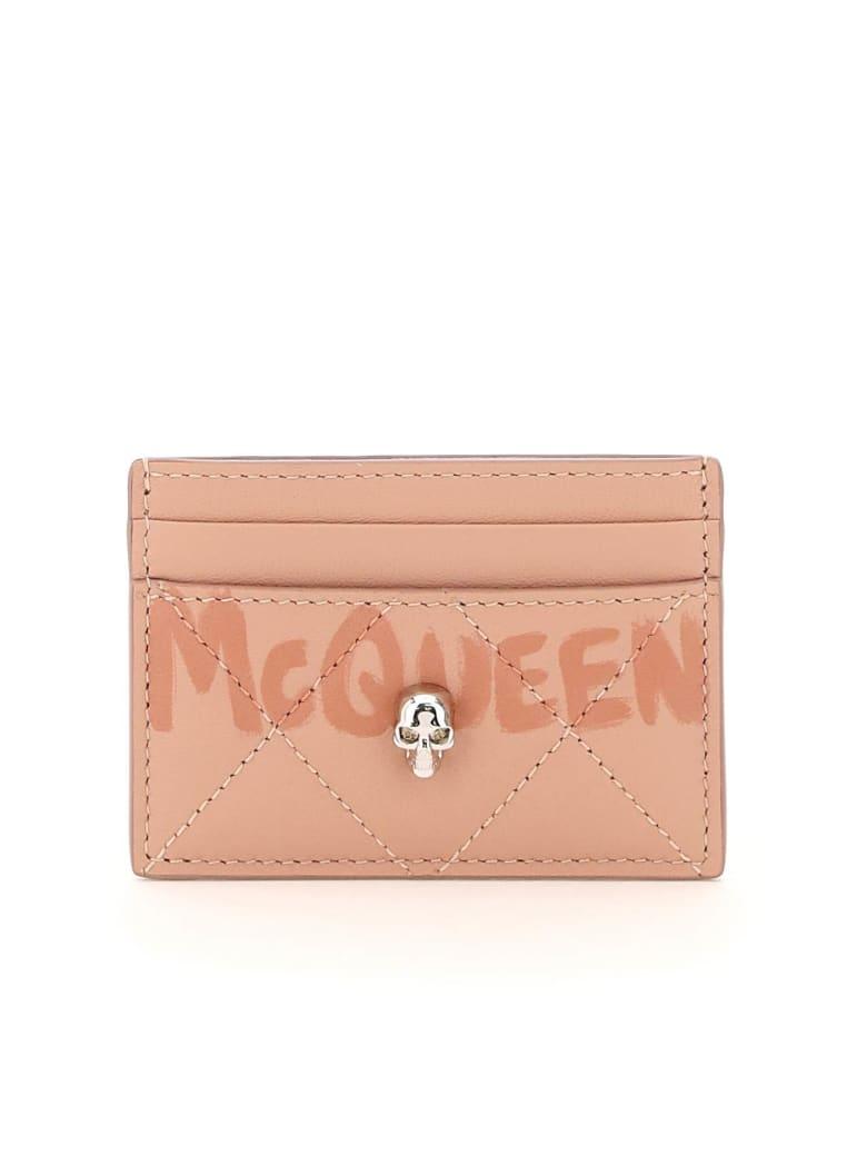 Alexander McQueen Graffiti Logo Cardholder - Rosa