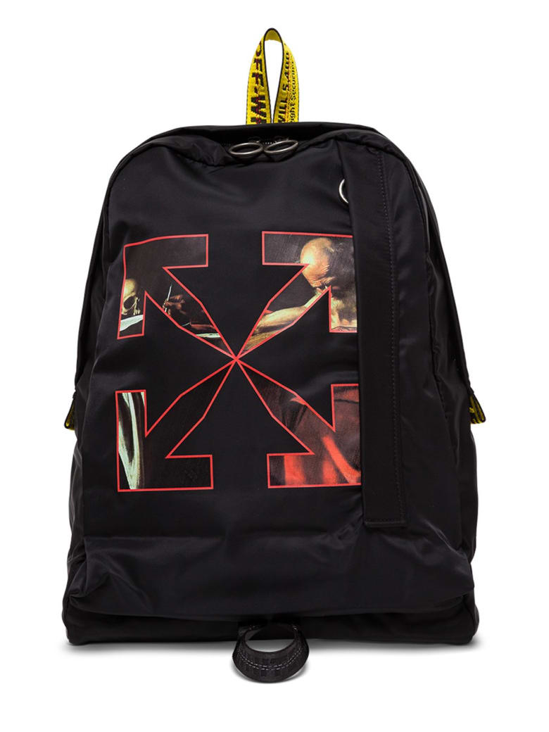 Off-White Caravaggio Backpack In Black Nylon - Black