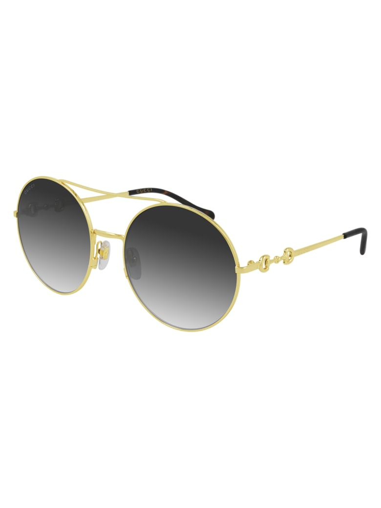 Gucci GG0878S Sunglasses - Gold Gold Grey