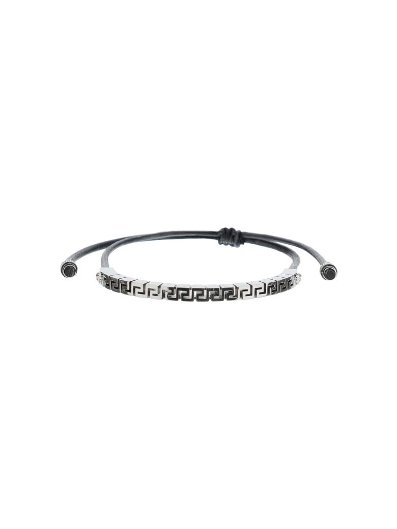 Versace Greca Bracelet - NERO RUTENIO (Silver)