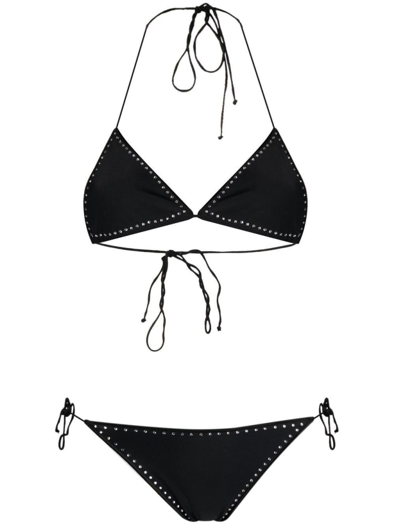 Oseree Bikini Embellished With Crystals - Black