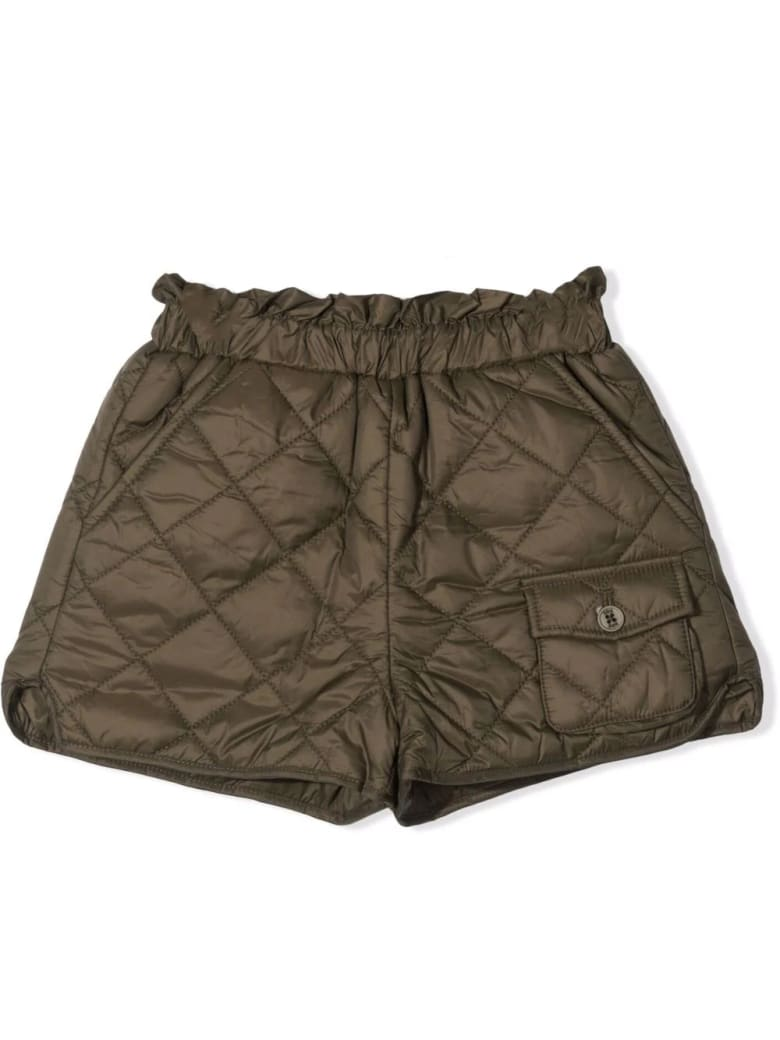 Douuod Quilted Shorts - Military green