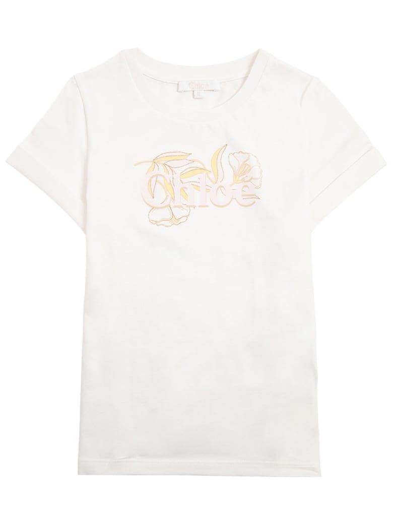 Chloé Cotton T-shirt With Logo - White