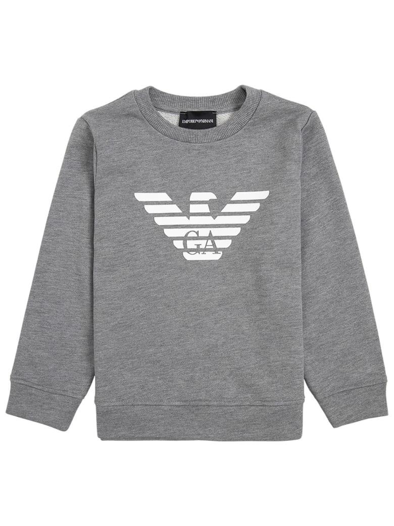 Emporio Armani Grey Modal Blend Sweatshirt With Logo - Grey
