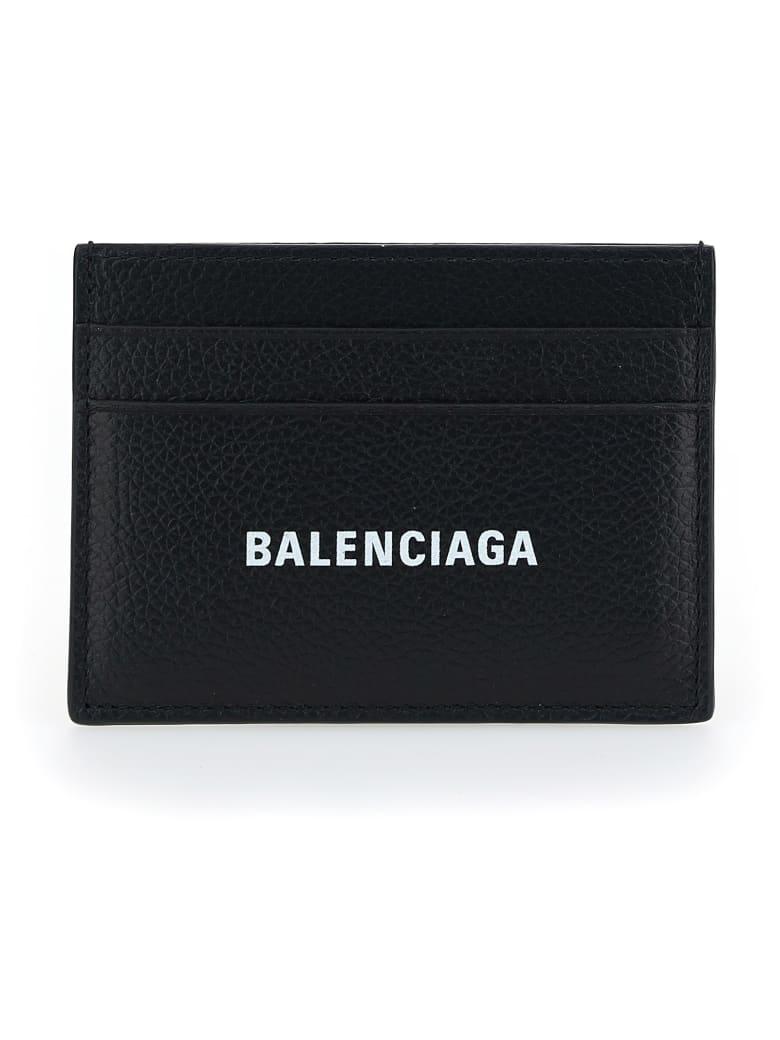 Balenciaga Cardholder - Black/l white